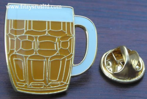 Pint Glass Beer Jug Lapel Hat Tie Cap Pin Badge Breweriana Hen Stag Night Brooch